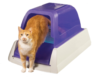 simply load the disposable litter tray into the litter box base the scoopfree sweeps away waste after your cat uses the litter