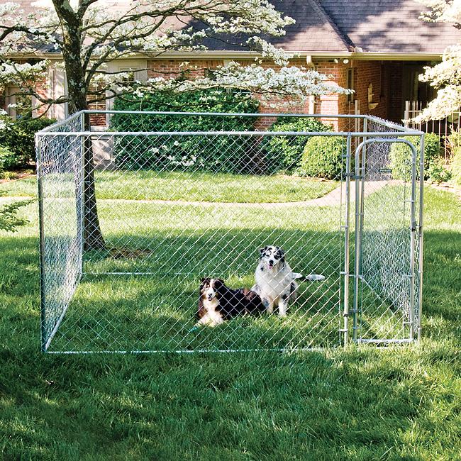 Diy Dog Door Flap Replacement: DIY Chain-link Dog Kennel 10'w X 10'd X 6'h HBK11-11926