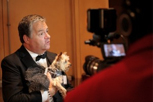 Jim Tedford speaks to the media to promote one of PetSafe's many philanthropic events