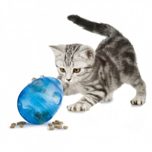 Our Egg-Cersizer™ Cat Toy rewards your cat for exercising!