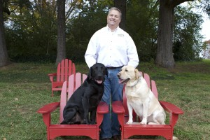 Jim's dogs are lucky to have several PetSafe dog parks in Knoxville.