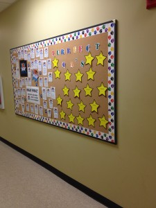 One of PetSafe's recognition walls for our customer care specialists to see what a fantastic job they all do!