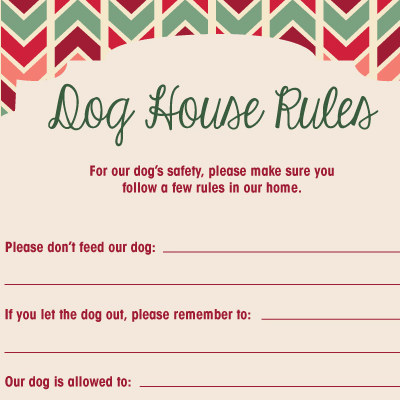 Holiday House Rules for Dogs & Cats