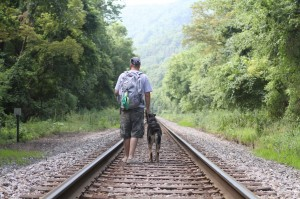 Hiking with your dog is a rewarding bonding experience for dog and owner.