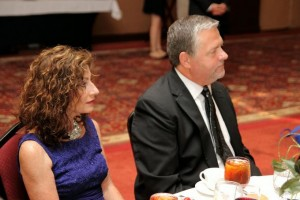 Jim and Ann Tedford enjoy an evening raising money for canine cancer research.